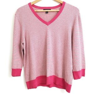 Land's End Cotton Stripe Sweater B10-634